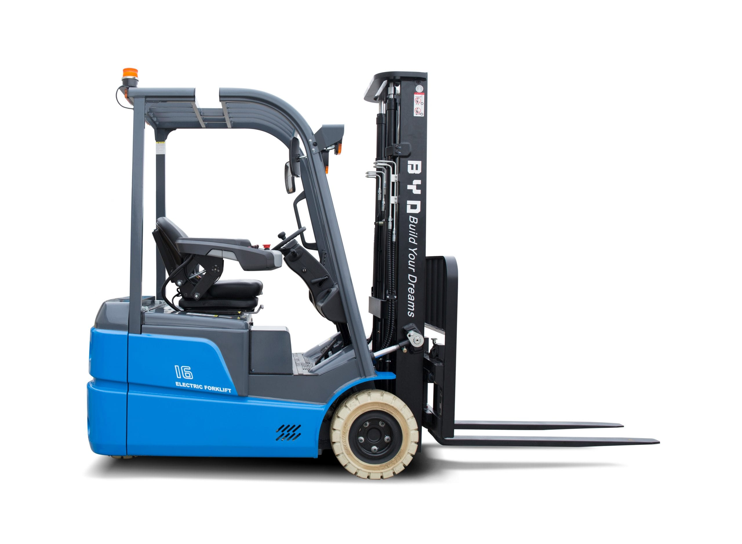 BYD ECB16 Iron Phosphate Forklift for Sale in UK, in areas like Leicester, Northampton, Nottingham, Birmingham, Derby, Warwick, West Midlands and East Midlands