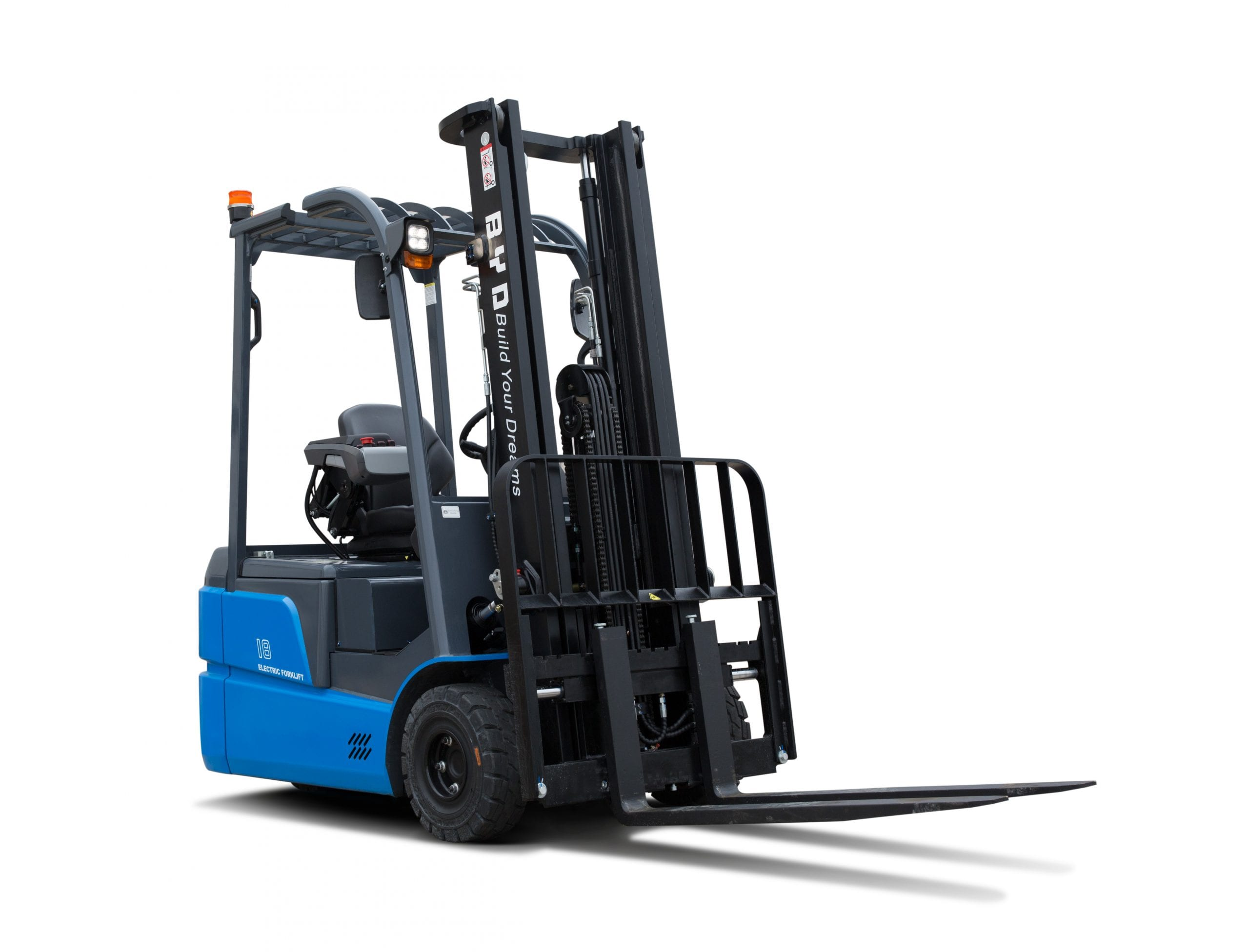 BYD ECB18 Iron Phosphate Forklift for Sale in UK, in areas like Leicester, Northampton, Nottingham, Birmingham, Derby, Warwick, West Midlands and East Midlands