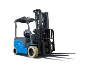 BYD ECB35 Iron Phosphate Forklift for Sale in UK, in areas like Leicester, Northampton, Nottingham, Birmingham, Derby, Warwick, West Midlands and East Midlands