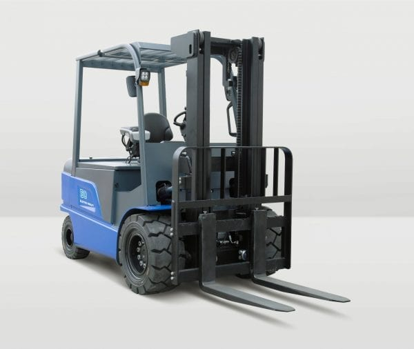 BYD ECB50C Counterbalance Iron Phosphate Forklift for Sale in UK, in areas like Leicester, Northampton, Nottingham, Birmingham, Derby, Warwick, West Midlands and East Midlands