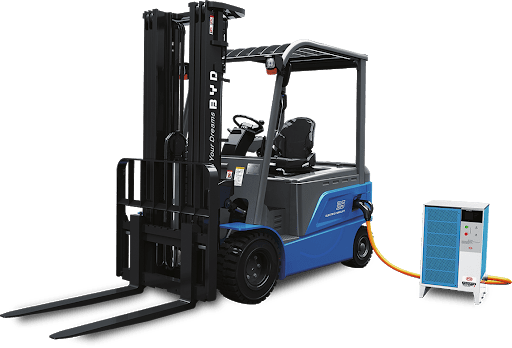 BYD Iron Phosphate forklifts in action