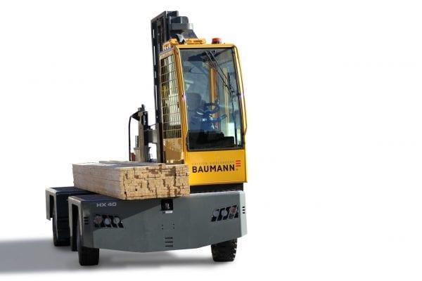 Baumann HX 40 Diesel Sideloader for Sale in UK, in areas like Leicester, Northampton, Nottingham, Birmingham, Derby, Warwick, West Midlands and East Midlands