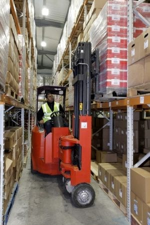 Narrow Aisle Flexi 15 Forklift for Sale in UK, in areas like Leicester, Northampton, Nottingham, Birmingham, Derby, Warwick, West Midlands and East Midlands
