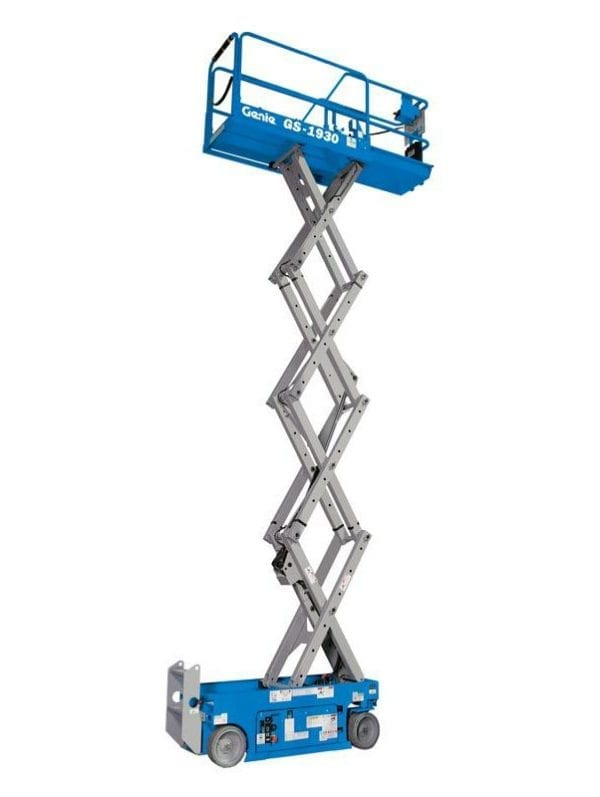 Genie GS1930 Scissor Lift for Sale in UK, in areas like Leicester, Northampton, Nottingham, Birmingham, Derby, Warwick,West Midlands and East Midlands