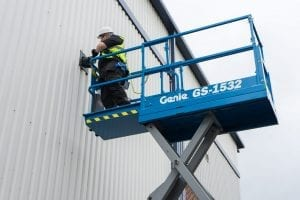 Genie Scissor lift GS-1532 for Sale in UK, in areas like Leicester, Northampton, Nottingham, Birmingham, Derby, Warwick, West Midlands and East Midlands