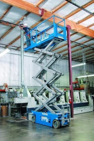 Genie Scissor lift GS2632 for Sale in UK, in areas like Leicester, Northampton, Nottingham, Birmingham, Derby, Warwick, West Midlands and East Midlands