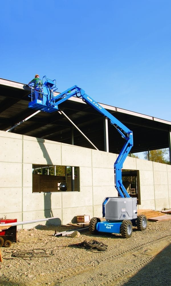 Genie Z-34/22 Cherry Picker for Sale in UK, in areas like Leicester, Northampton, Nottingham, Birmingham, Derby, Warwick, West Midlands and East Midlands