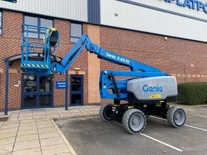 Genie Z45 FE Cherry Picker for Sale in UK, in areas like Leicester, Northampton, Nottingham, Birmingham, Derby, Warwick, West Midlands and East Midlands
