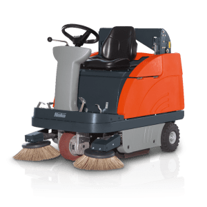 Hako B980R Ride On Sweeper for Sale in UK, in areas like Leicester, Northampton, Nottingham, Birmingham, Derby, Warwick, West Midlands and East Midlands