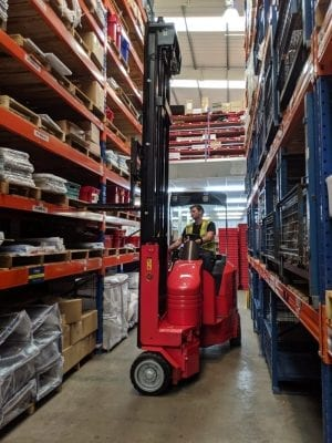 Narrow Aisle Flexi LITHION Forklift for Sale in UK, in areas like Leicester, Northampton, Nottingham, Birmingham, Derby, Warwick, West Midlands and East Midlands